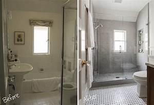 Rénovation Salle De Bain Avant Après : r novation salle de bains id es et photos avant et apr s ~ Dallasstarsshop.com Idées de Décoration