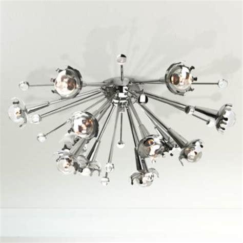 jonathan adler sputnik flush mount nickel ceiling light x1817 ls plus