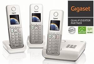 Telefon Weiß Schnurlos : gigaset c300a trio telefon schnurlos mit ab weiss silber sondermodell ebay ~ Eleganceandgraceweddings.com Haus und Dekorationen