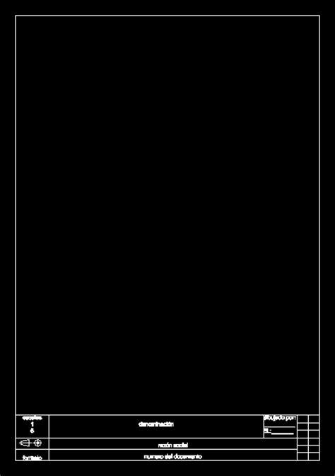 Sheet a4 in AutoCAD   Download CAD free (16.15 KB)   Bibliocad