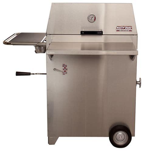 modern outdoor grill hasty bake suburban 415 stainless steel charcoal grill modern outdoor grills by