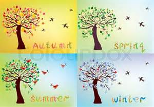 new home plans and prices four seasons card with tree and seasons names stock
