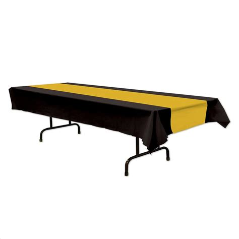 black and gold table l black and gold plastic table cover rectangle