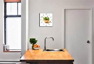 Wanduhr Aus Glas : wanduhr aus glas 30x30cm uhr als glasbild k che kr uter gew rze deko kaufen bei living by design ~ Buech-reservation.com Haus und Dekorationen