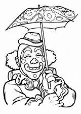 Coloring Clowns Pages Clown Coloringpages1001 sketch template