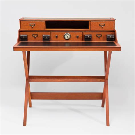 brown desk with drawers design wooden bureau quot colonial quot brown with drawers