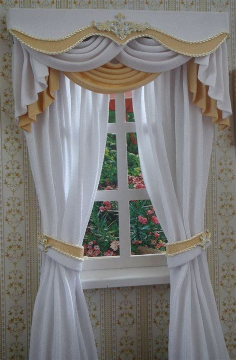 miniature 112 dollhouse curtains on order by tanyacurtains