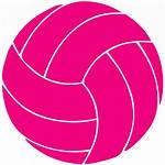 Volleyball Clipart Pink Clip Ball Cliparts Transparent