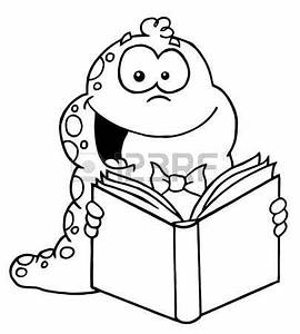 bookworm with balloon clipart black and white outline ...