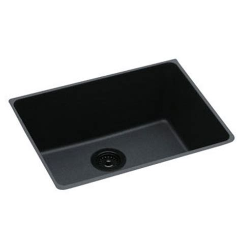 elkay undermount egranite sinks elkay elgu2522bk0 gourmet e granite undermount sink