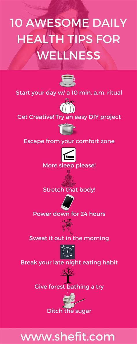 10 Simple, Easy To Follow Daily Health Tips for Women ...