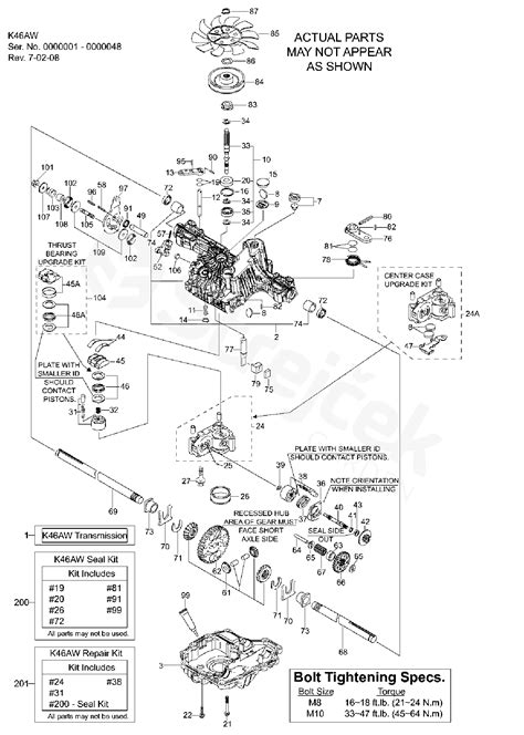 Spare parts - Partlist - ENGINE TRANSMISSION TUFF TORQ K46 ...