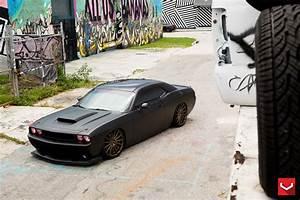 Matte Black Challenger Srt8 On Vossen Wheels  Muscle Batmobile