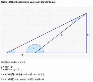 Höhe Vom Dreieck Berechnen : standlinie trigonometrieaufgabe ein alter turm steht in ~ Themetempest.com Abrechnung
