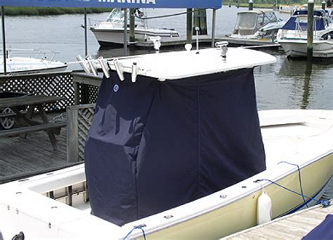 Center Console Boat Covers With T Top by Cobia 174 Boats Factory Original Oem Canvas Covers T