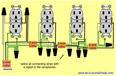 Printable Basic Electrical Wiring Diagram Garage by Wiring Diagram For A Row Of Receptacles