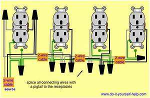 Wiring Diagram For A Row Of Receptacles