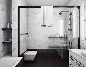 Salle De Bain Marbre Blanc : salle de bain en marbre moderne en 40 id es fra ches et tendance ~ Nature-et-papiers.com Idées de Décoration