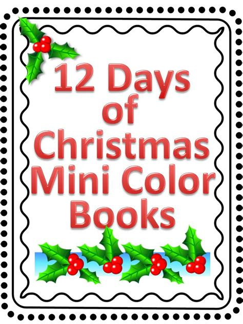 12 Days Of Christmas Mini Coloring Book  Other Files  Patterns And Templates