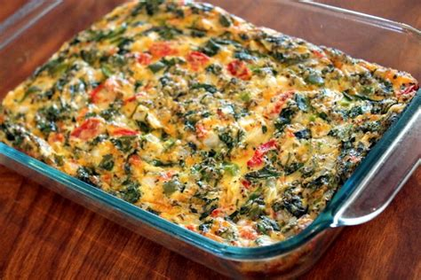 spinach casserole with cottage cheese spinach egg bake cottage cheese