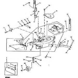 john deere oem 38 quot mower deck shell fits 108 111 112l