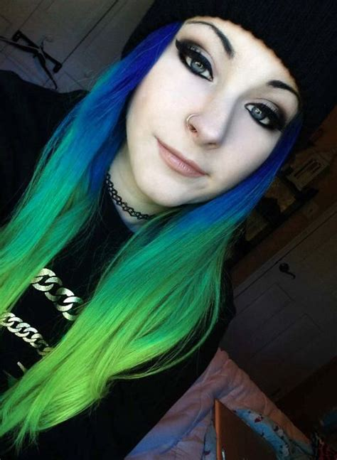 Blue And Green Hair Hair Pinterest Green Blue
