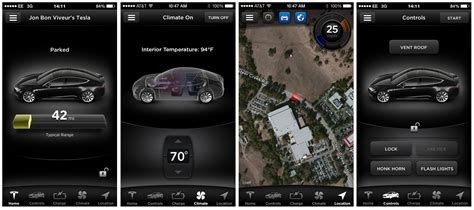 Tesla Car Apps by The Companies Used To Think Of Electric Cars As A Joke