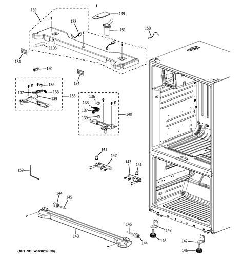 ge bottom mount refrigerator parts model pfsspkxcss sears partsdirect