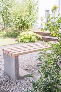 Günstige Sichtschutzzäune Aus Holz : diy gartenbank mit beton und holz leelah loves ~ Whattoseeinmadrid.com Haus und Dekorationen