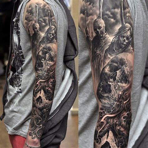Cool Black And Grey Tattoos Top 100 Best Sleeve Tattoos