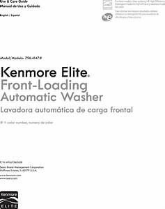 Kenmore Washer 796 4147 Users Manual