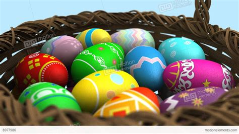 Basket Of Easter Eggs Stock Animation