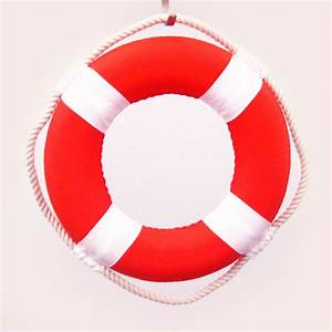 """Mini 8"""" Solid Color Cloth Covered Life Ring Nautical"""