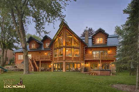 walkout house plans golden eagle log and timber homes log home cabin