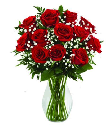 flowers in a vase dozen roses in a vase s day flowers boesen