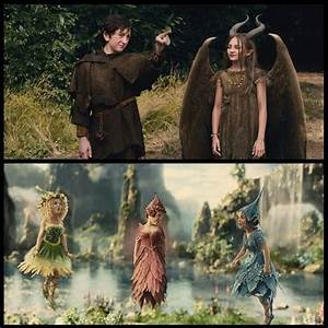 Young Maleficent and young Stefan, and the Fairies thistle ...