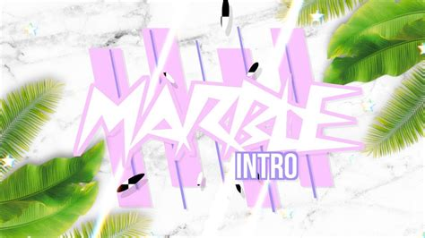 aesthetic marble intro templates  text youtube