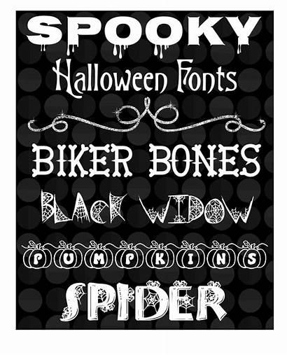 Halloween Fonts Spooky Bones Biker Spider Playground