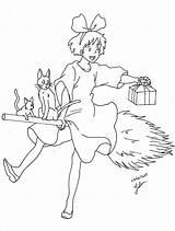 Kiki Totoro Sorcière Dessin Juju Gribouille Arrietty Balai Doodling Voisin Coloringhome Minous Getdrawings sketch template