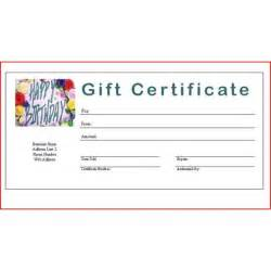 Make Your Own Gift Certificate Templates