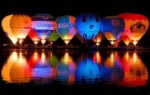 Hot Air Balloon night glow and flicker.   Balloons ...