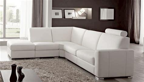 canap en cuire canap angle en simili cuir vachette blanc
