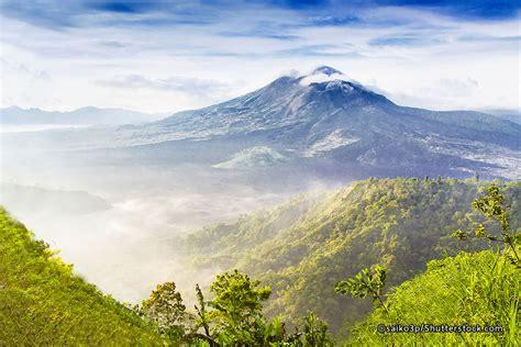 mount batur volcano bali volcanoes  mountains