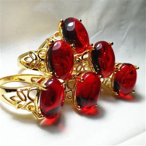 jual cincin batu akik wanita merah siam di lapak qinara ramadhan putri qinara gems