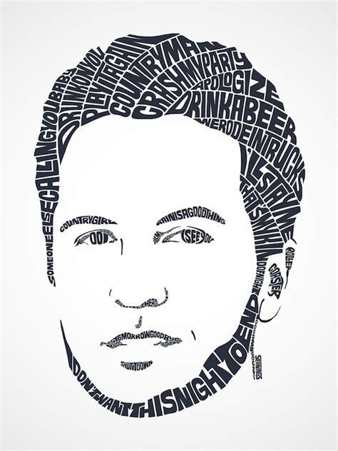 amazing typographic portraits  celebrities