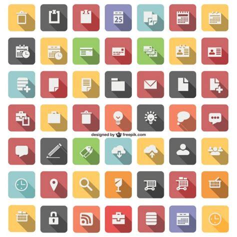 telecharger icone bureau gratuit icône plat set vector télécharger des vecteurs gratuitement