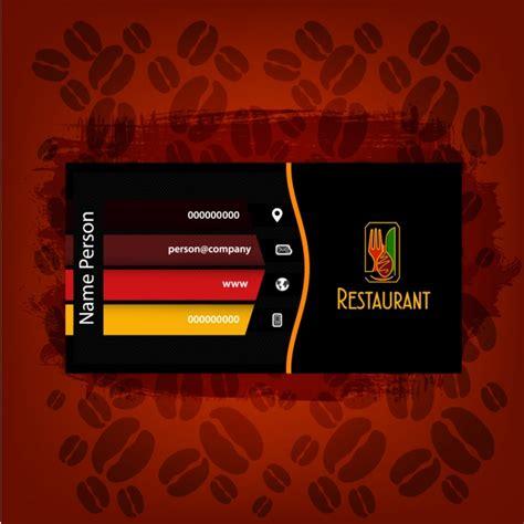 Carte De Visite Restaurant Design by Restaurant Design De Carte De Visite T 233 L 233 Charger Des