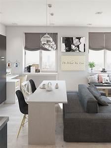 Studio, Apartment, Interior, Design, With, Cute, Decorating