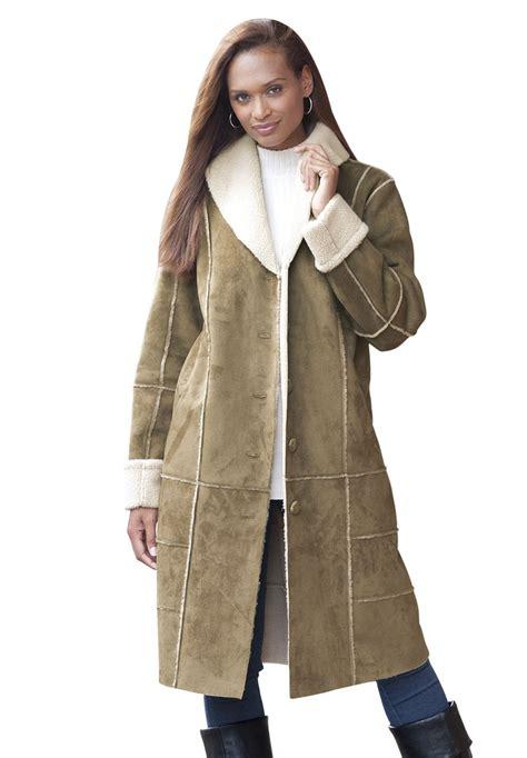 size shearling coats han coats