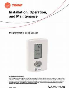 Trane X1379088401 Owners Manual Progwiredsensor